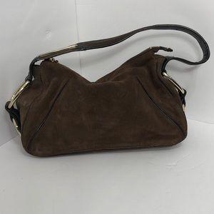 Antonio Milani Suede Gold Toned Handbag